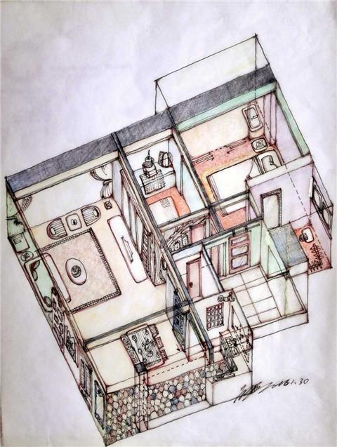 单线量房手绘图