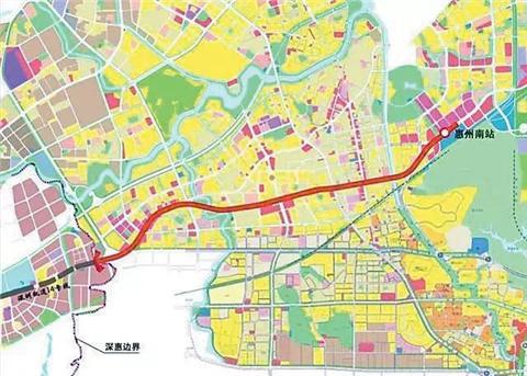 深圳14号线地铁线路图出炉图片