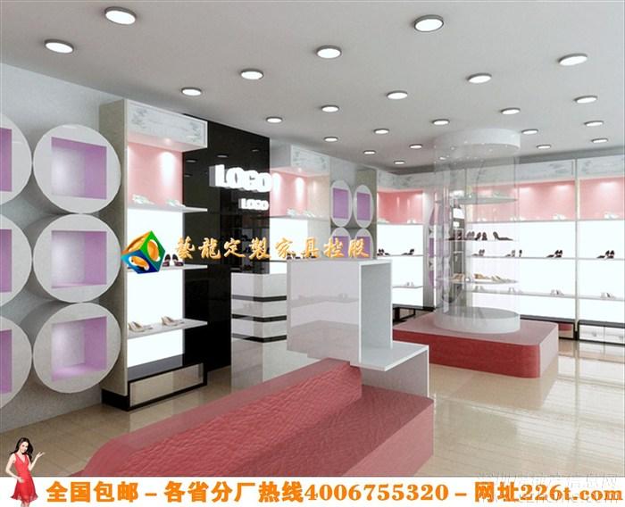 个性鞋店装修效果图大全时尚女鞋店装修货架展示柜