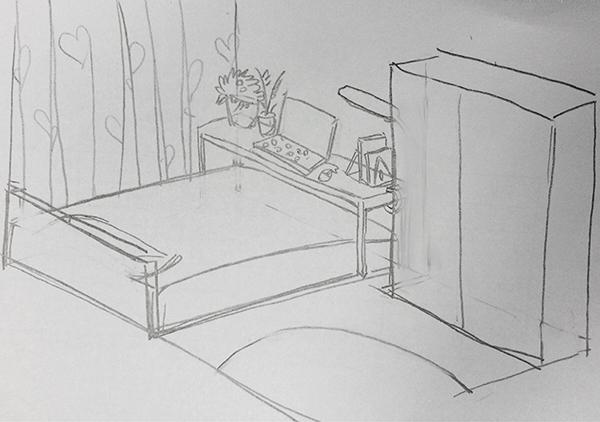 床怎么画简笔画 步骤
