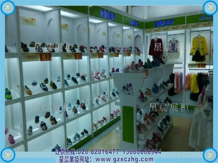 儿童鞋店装修设计童鞋展柜图