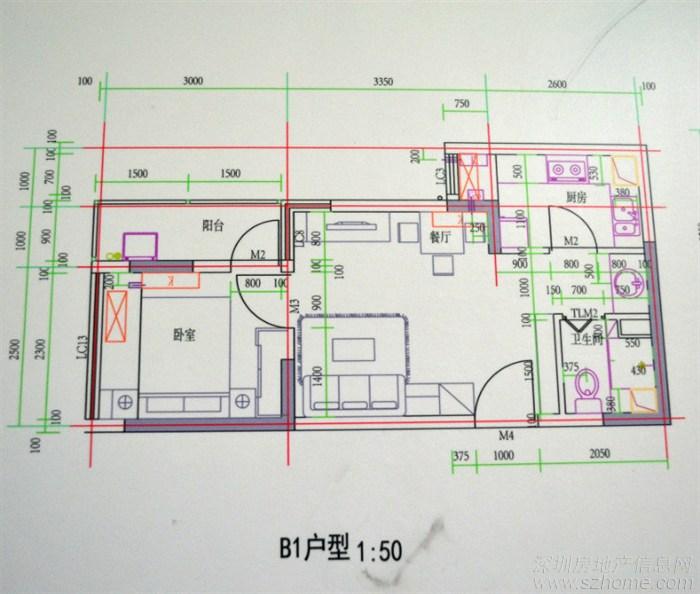 龙海家园b1户型样板装饰设计效果(胖虫子