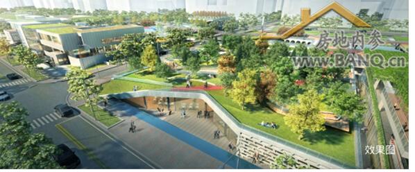被绿廊,拥有世界级的【万科云城建筑设计公社】,未来成为创新产业核心