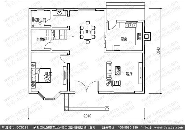 這款農村自建房圖紙占地100平方左右,長12米,寬8.8米,二層設計,紅白拼接,獨物的個性窗戶設計,具有現代風格與鄉村清新相結合。實用的戶型設計,很適合農村居住。 圖紙屬性 編號: DC0239 層數: 二層 結構形式: 磚混結構 主體造價: 18-24萬開間: 12.04米 進深: 8.84米 占地面積: 103.