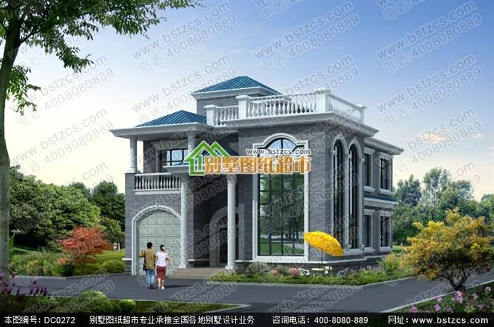 二层半农村别墅户型设计图纸_鼎川图纸超市