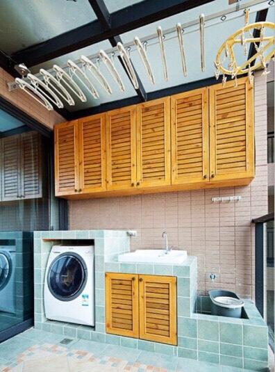 求阳台的洗衣机台洗手台尺寸