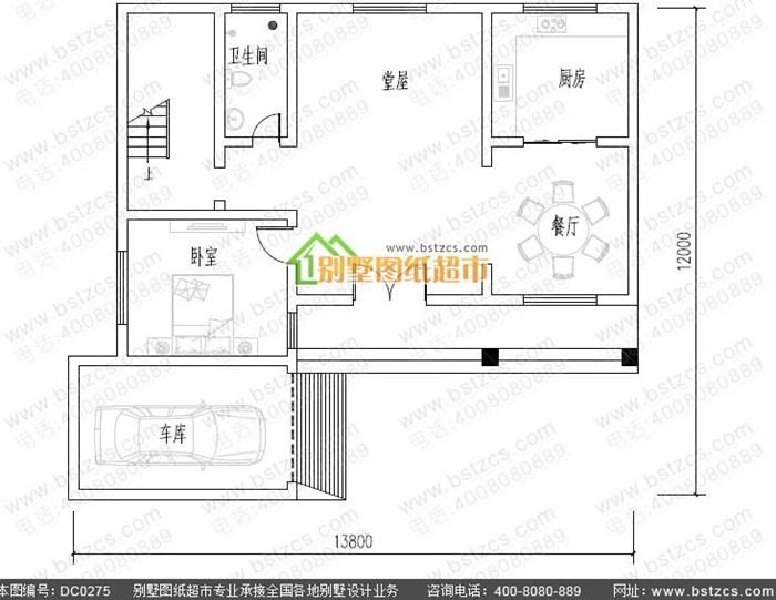 8米×12米二層農村自建房設計圖_鼎川別墅圖紙超市