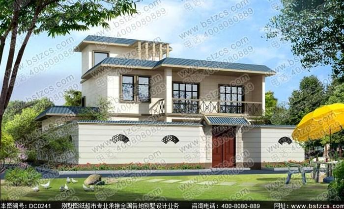 15米×10米二层半平顶农村自建房设计图纸_鼎川别墅图纸超市图片