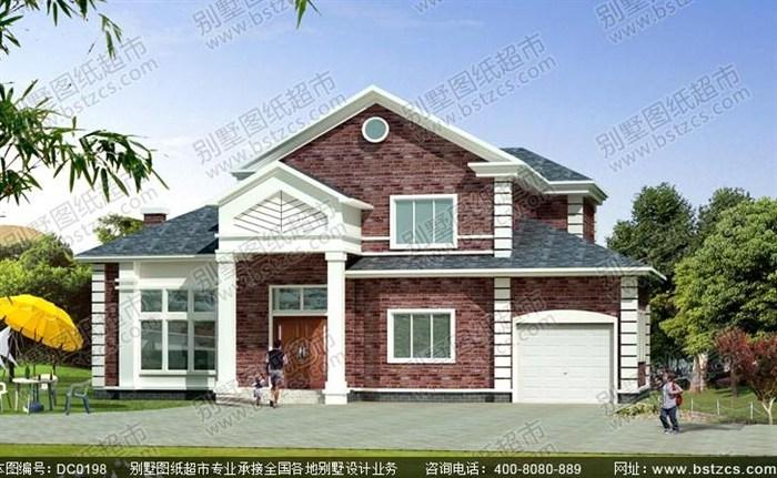 16米12米特色小二层农村自建房设计全套图纸带车库
