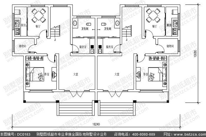 5米11米新农村三层双拼别墅设计图纸及效果图