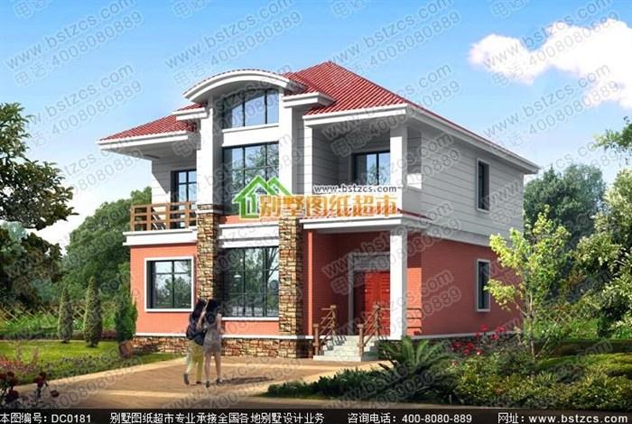 这款二层新农村别墅一楼一室二厅带厨房卫生间,二楼四个卧室附衣帽间,并带有两个阳台,采用的是红白配色,外观时尚,很造合在农村建房,下面是具体的设计图: 150平方米二层新农村自建房设计施工全套图纸 编号: DC0181 层数: 二层 结构形式: 框架结构 主体造价: 24-30万开间: 11.