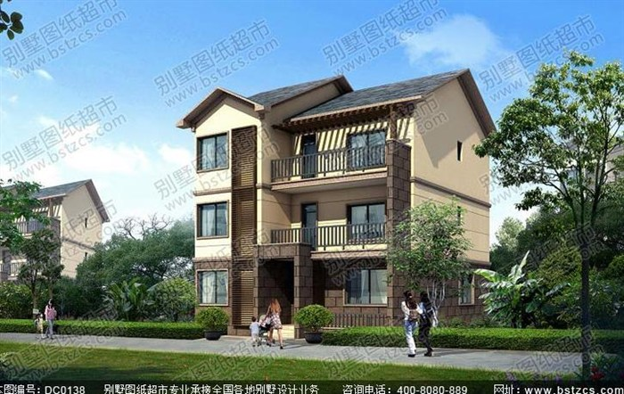 中式复古古新农村三层自建房设计图纸