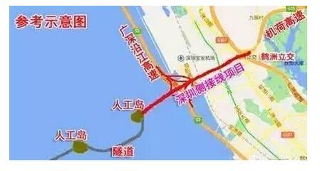 深中通道将通过连接线实现在深圳