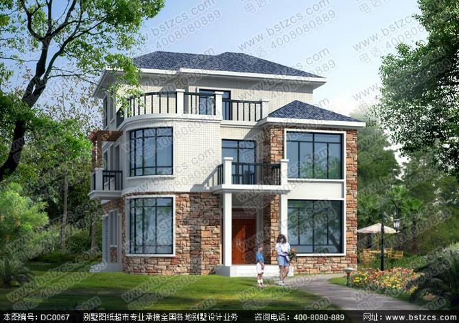 120平方米实用三层农村自建房全套效果图施工图纸_鼎川别墅图纸超市