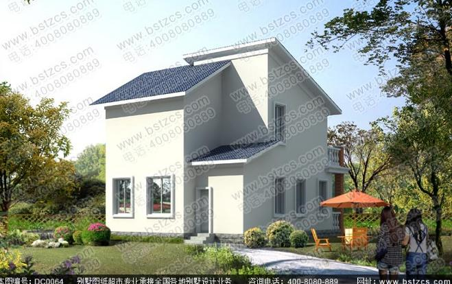 80平方米二层农村现代小别墅设计全套施工图纸_鼎川别墅图纸超市图片
