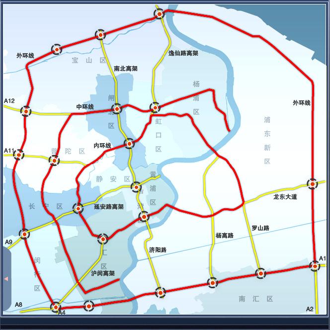 2018上海高架地图