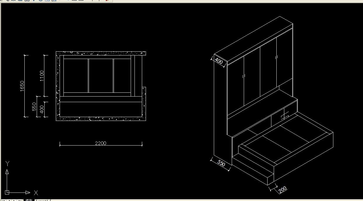 龙海二房a1户型平面图及踏塔米效果图