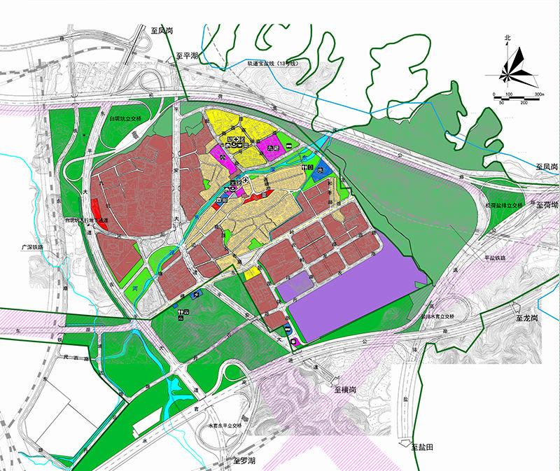 平湖白泥坑城市整体功能布局规划
