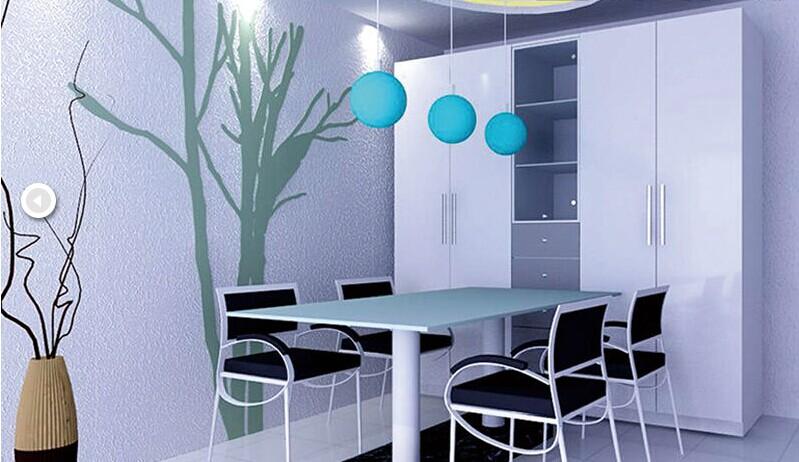 而硅藻泥餐厅背景墙的色彩
