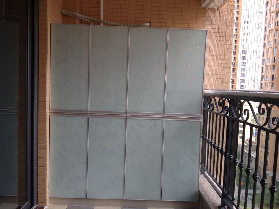 百变专构-玻化砖水泥橱柜-中洲中央公园阳台柜
