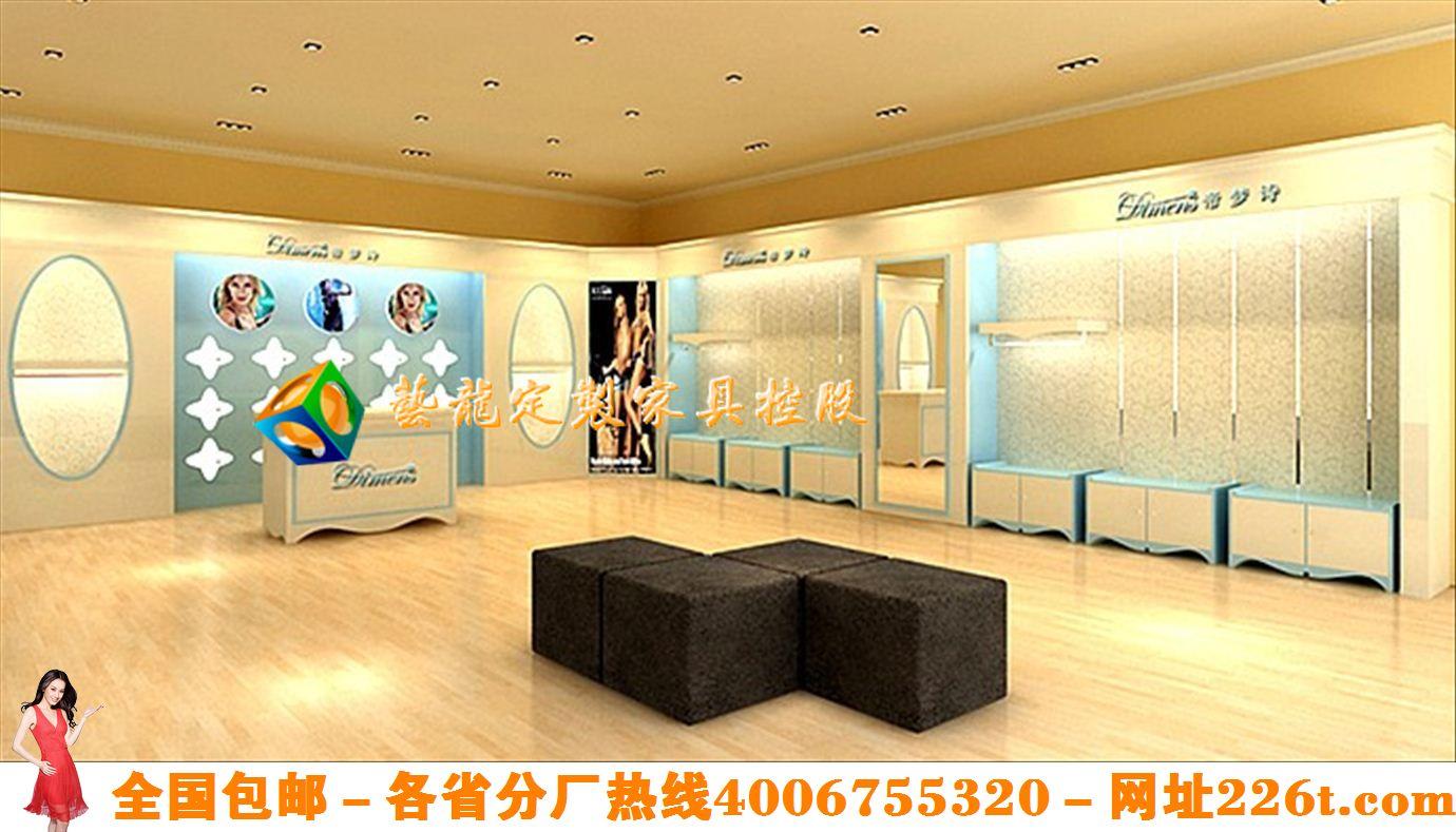 创意时尚内衣店设计高档内衣展示柜效果图韩版内衣实体店装修图1201