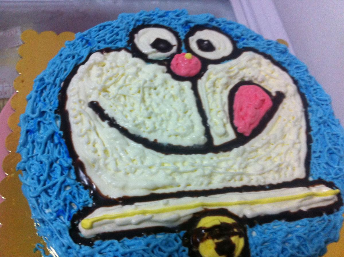 秀一下邻居最新生日蛋糕新做-----少见的可爱爸爸款