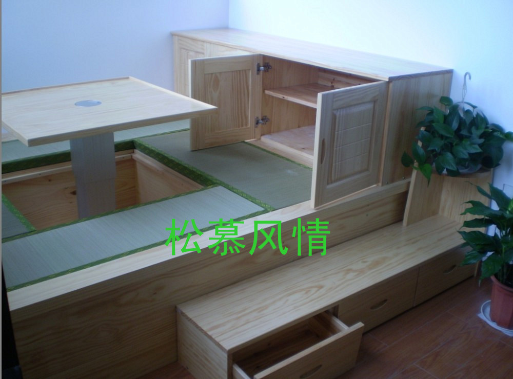 厂家直销,专业定制纯实木榻榻米地台,衣柜,全屋实木家具