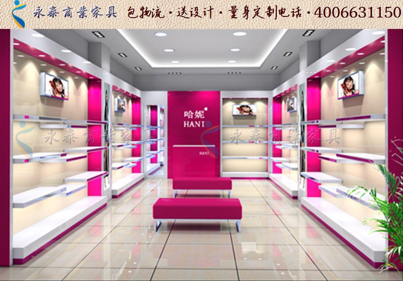 个性鞋店装修效果图大全时尚女鞋店装修货架展示柜1210