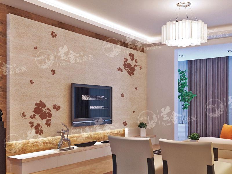 深圳硅藻泥电视背景墙图片——兰舍硅藻泥