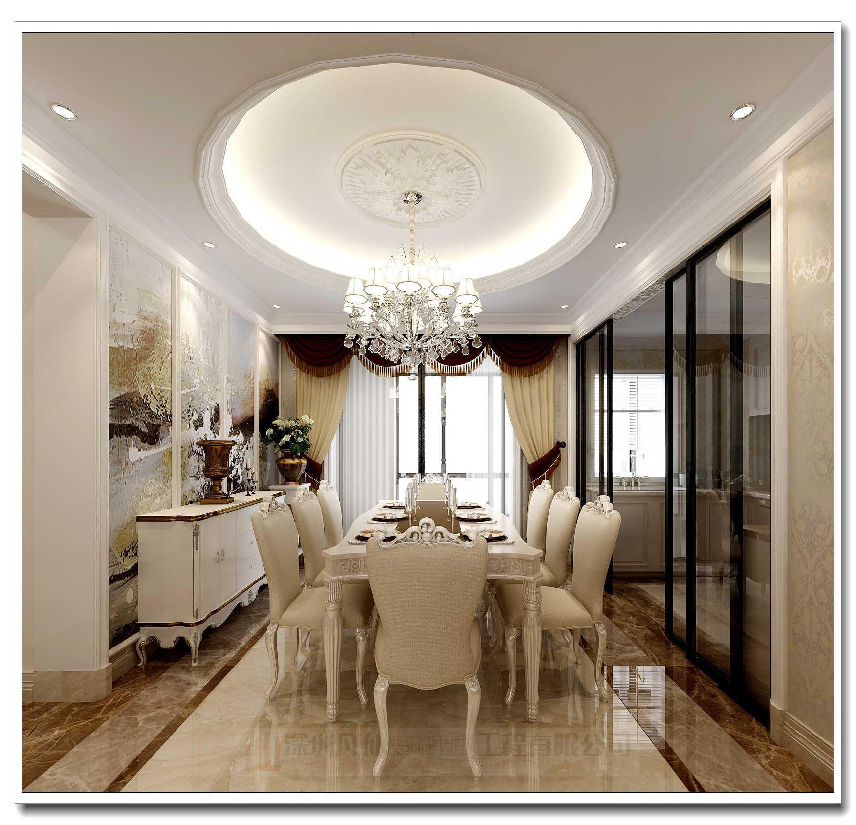 深圳凡仙装饰为您讲解客厅餐厅装修效果图之位置餐厅应位於客厅和厨房