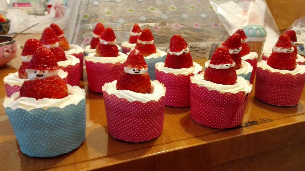幼儿园圣诞节惊喜——圣诞老人蛋糕