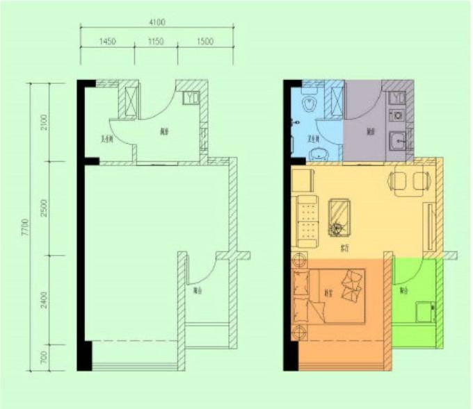 业主论坛 龙海家园  > 龙悦居单身公寓置换龙海家园   这是户型图