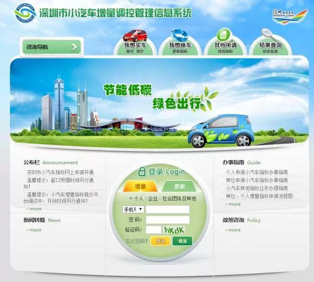 深圳市小汽车增量电话