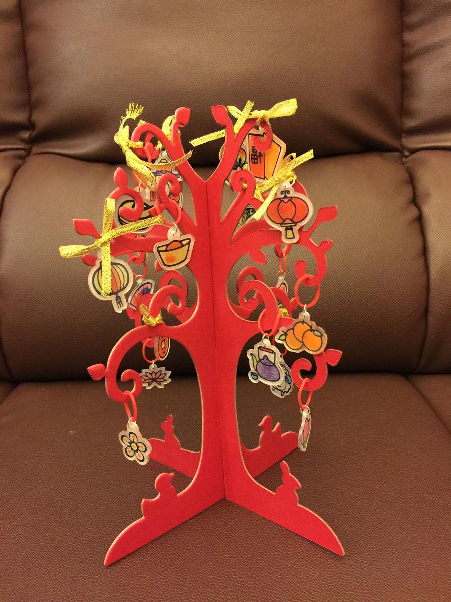 和孩子一起做的手工春节装饰