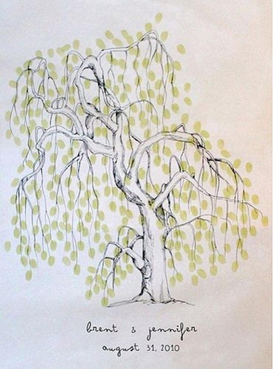 创意十足的指纹签到树