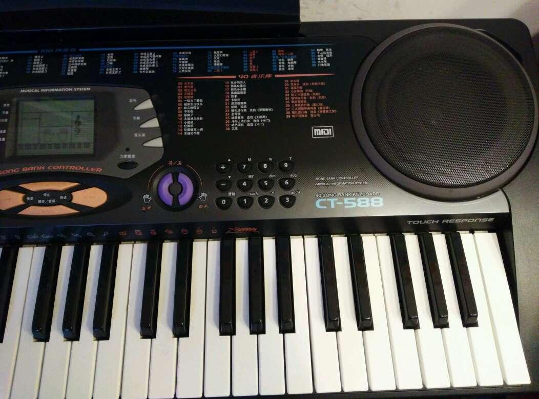 转9成新卡西欧电子琴ct-588,考级用琴,力度键盘.