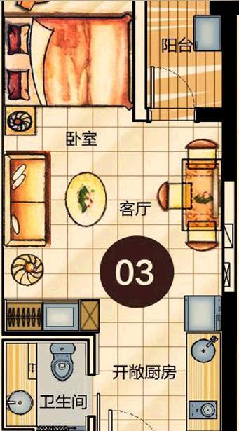 龙海14栋单身公寓 布局图