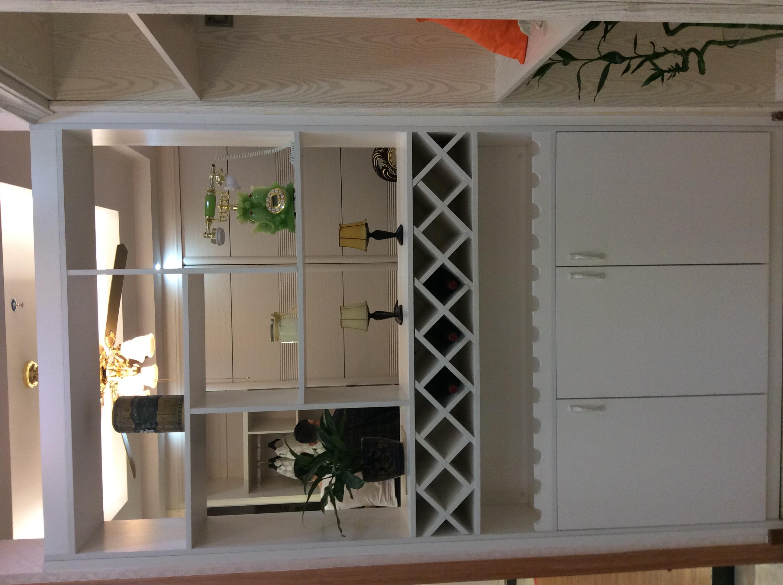 鞋柜酒柜一体欧式装修效果