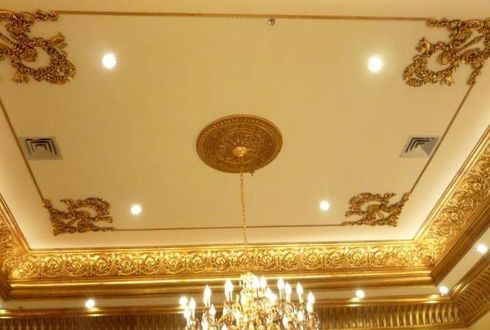 客厅pu线条效果图吊顶