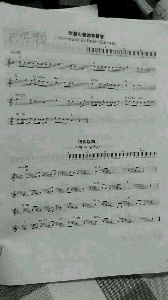 这些天视唱练习,看五线谱,边视唱