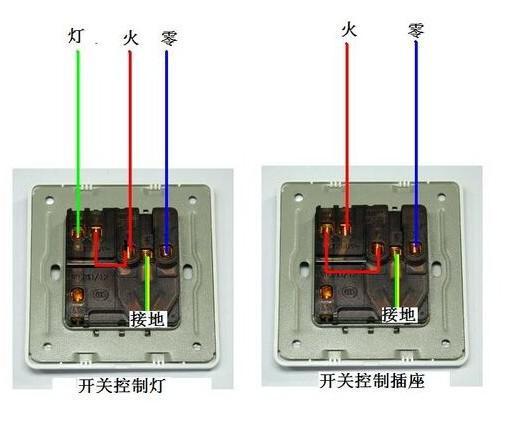 一開五孔的接線方法