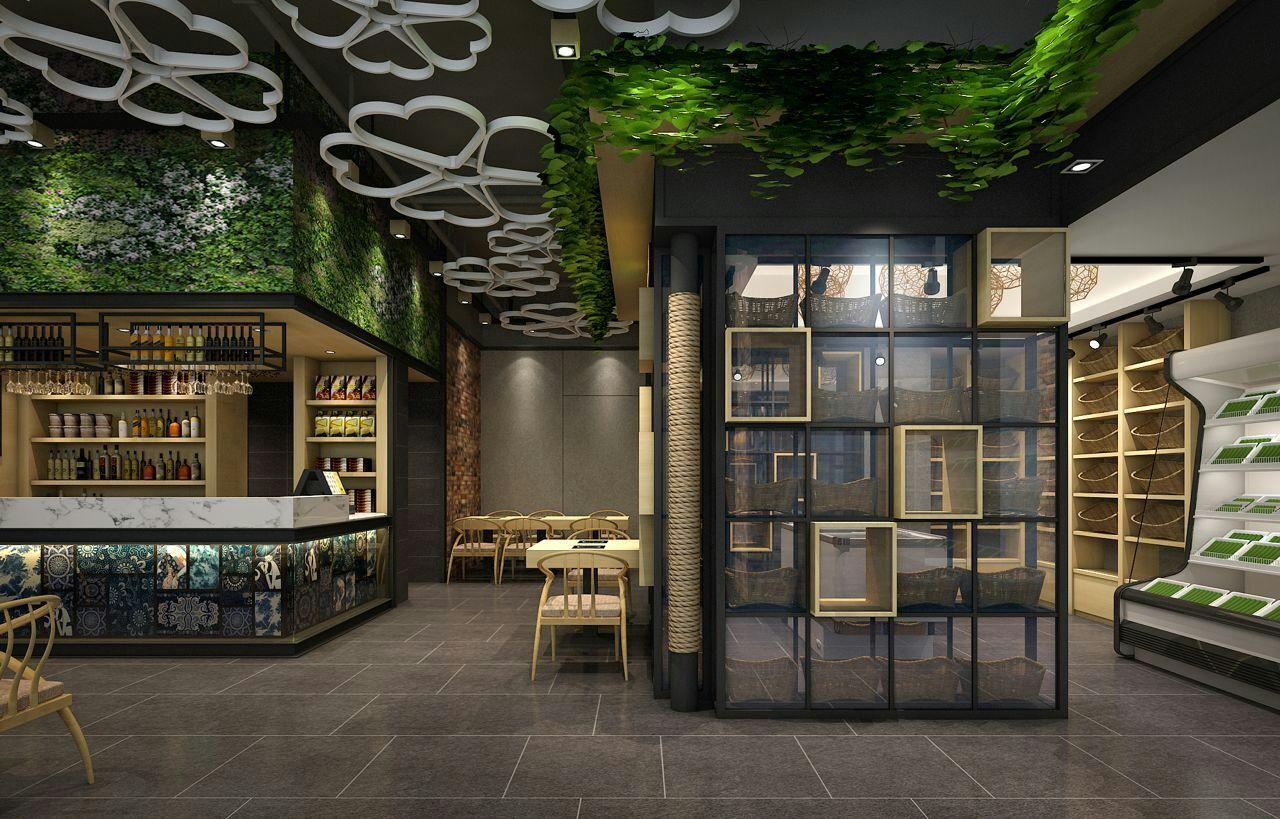 100平原生态餐饮特产店装修