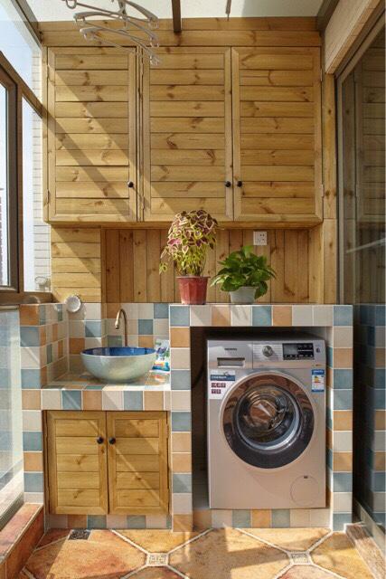 求陽臺的洗衣機臺洗手臺尺寸