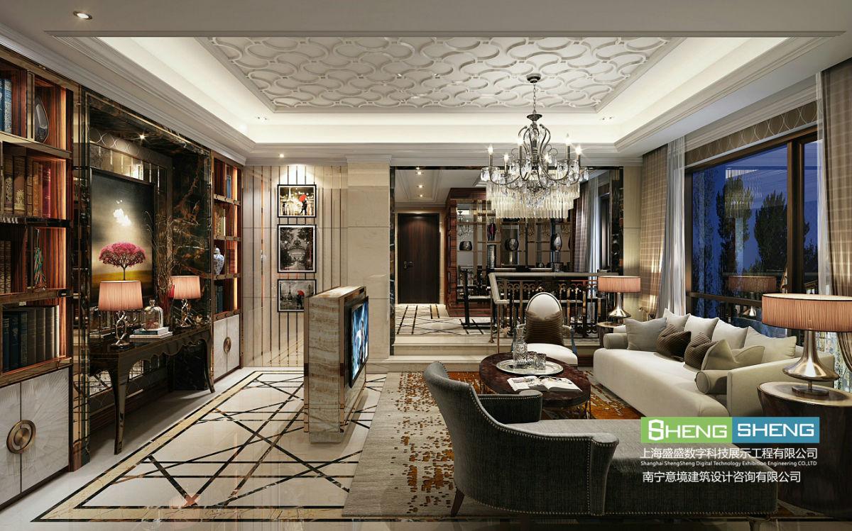 为业主设计制作的室内装修三维效果图作品