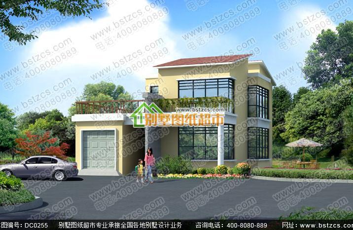 1米二层现代风格小别墅设计图纸_鼎川别墅图纸超市
