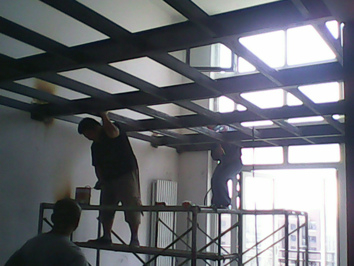 通州区阁楼搭建//钢结构钢架焊接//室内做夹层跃层
