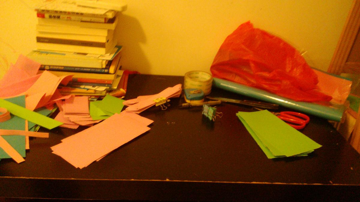 幼儿园作业手工花灯纯记录-莲花灯 闪光锤
