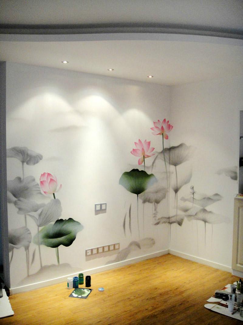 天逸墙绘 电视背景墙手绘系列