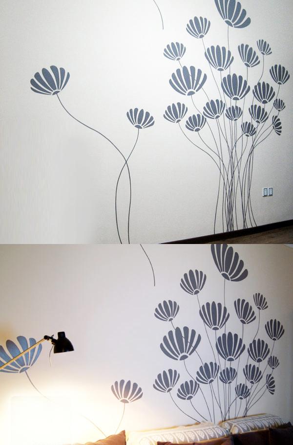墙绘线条素材简约风