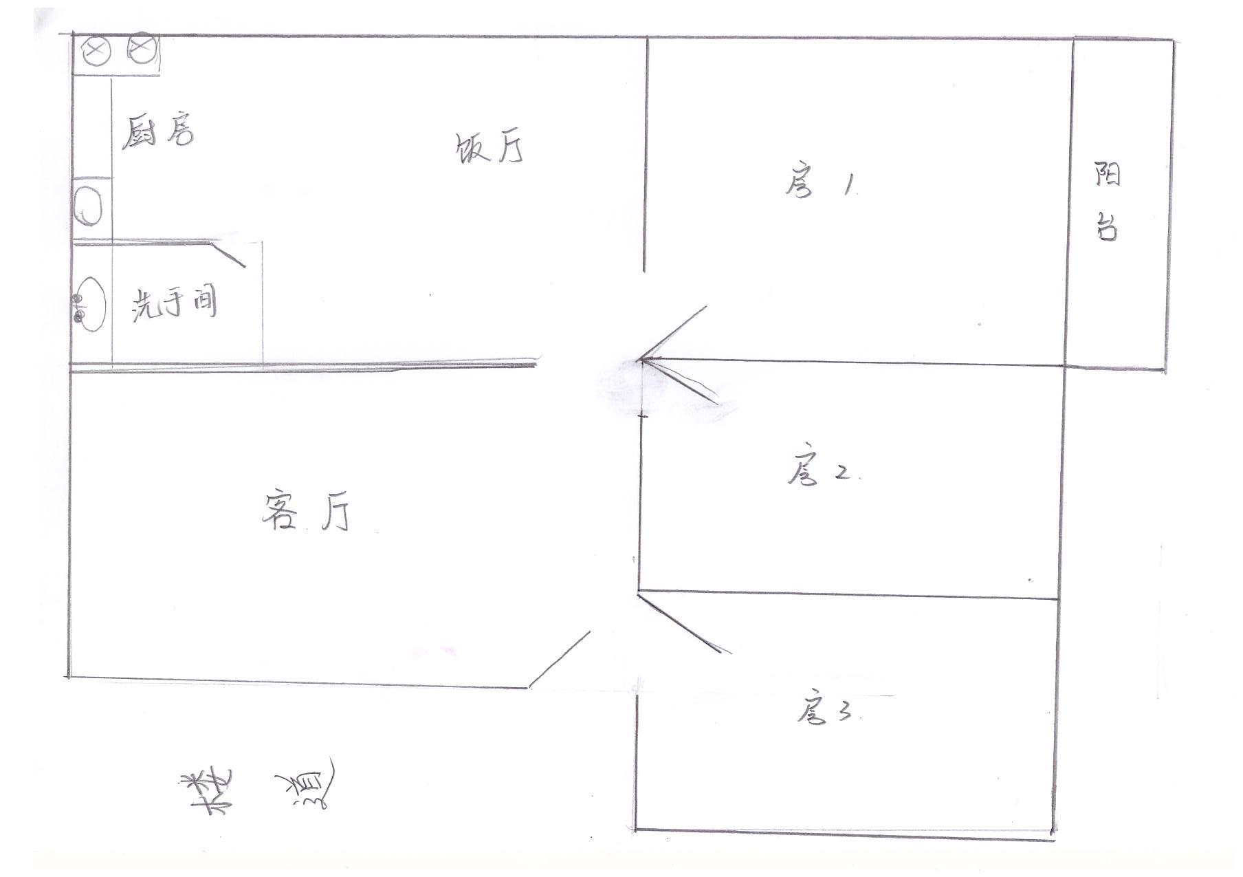 宿舍家具手绘图